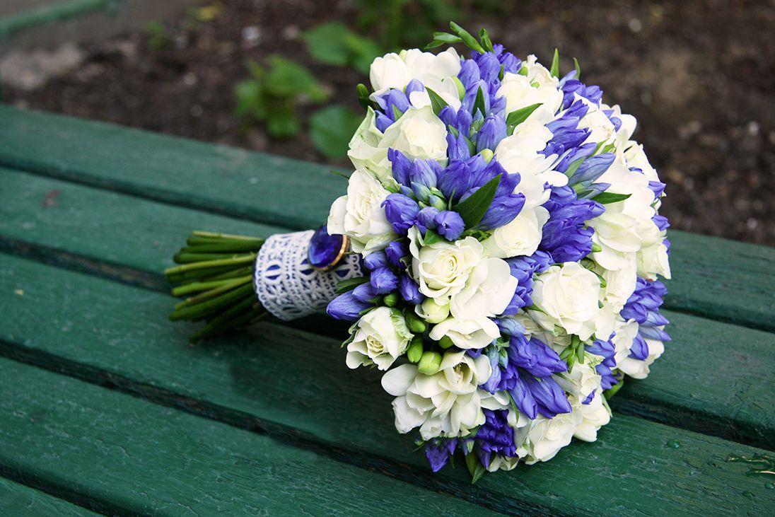 Синий букет для невесты фото, букет цветов цветы
